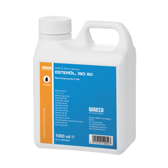 WAECO POE SEZ 80 - POE oil for R134a and R404, SEZ 80, 1000 ml