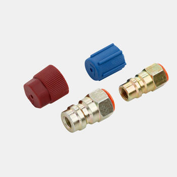 WAECO COMP-ADAPT - Set of 2 retrofit adapters, straight, high-pressure and low-pressure side